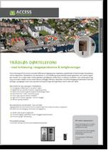 Trådløs dørtelefoni med brikløsning i etageejendomme og boligforeninger