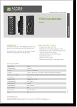 RFID kodetastatur hybrid (Mifare/EM)