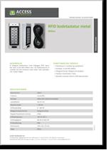 RFID kodetastatur metal, Mifare
