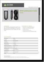 RFID kodetastatur metal, EM/HDI