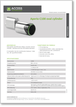 Aperio C100 oval cylinder