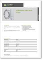 Motorvrider uden RFID