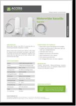 Motorvrider kasselås med RFID