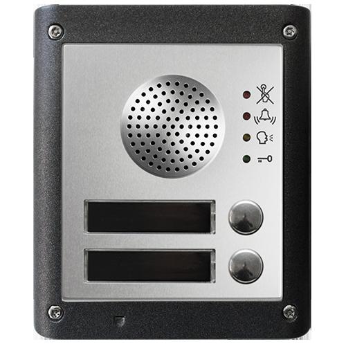 Dørtelefon og porttelefon til trådløs adgangskontrol, med 2 knapper