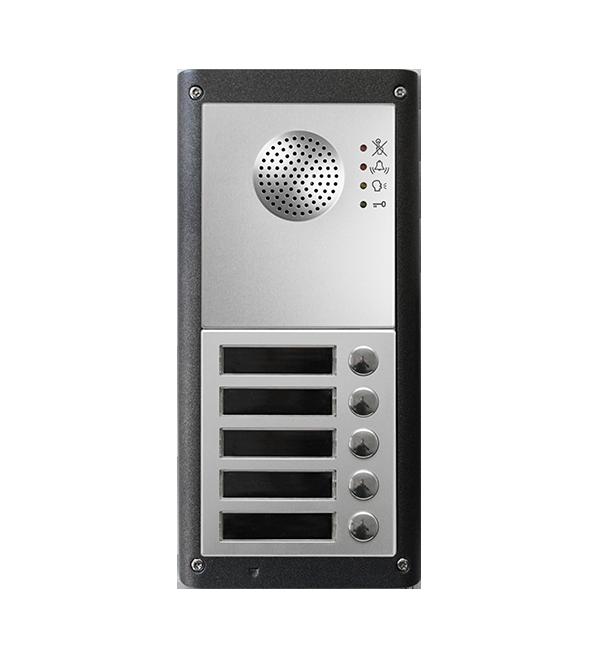 Dørtelefon og porttelefon til trådløs adgangskontrol, med 5 knapper