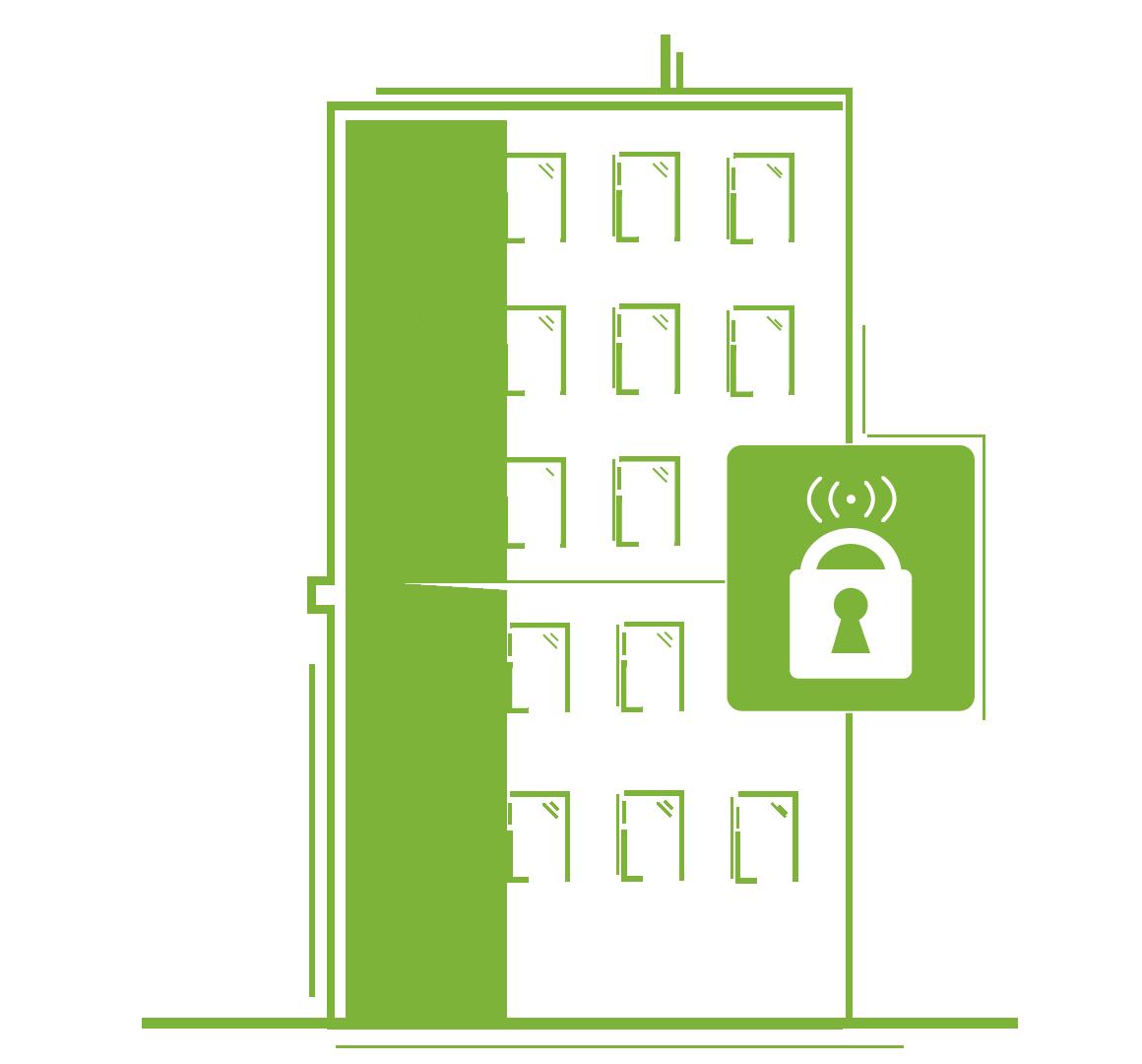 Trådløse adgangssystemer til etagejendomme og boligforeninger