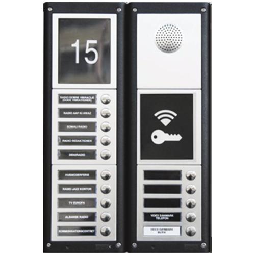 Dørtelefon og porttelefon til trådløs adgangskontrol, med 15 knapper