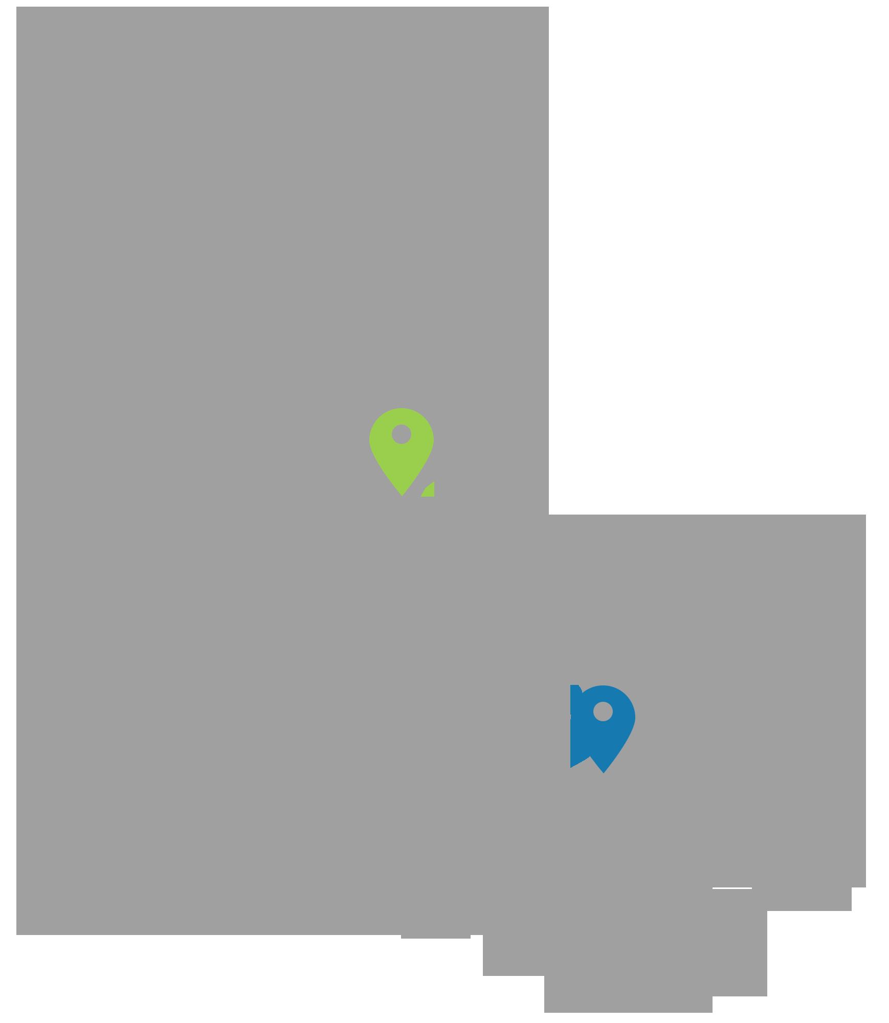 Danmarkskort med Access Technology & IntelligentCARE